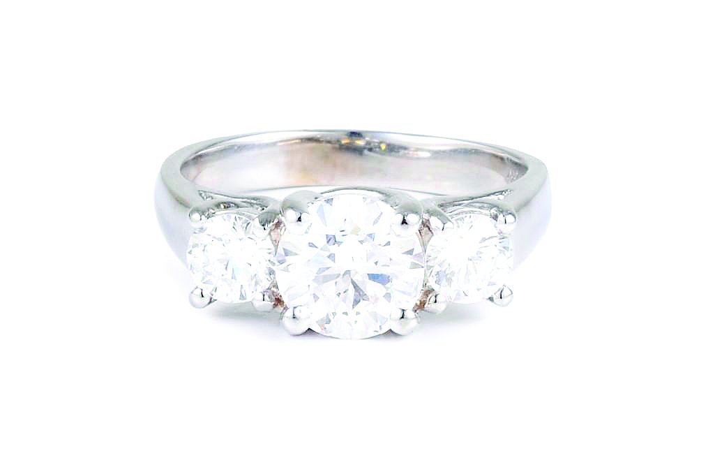 A Three Stone Diamond Engagement Ring