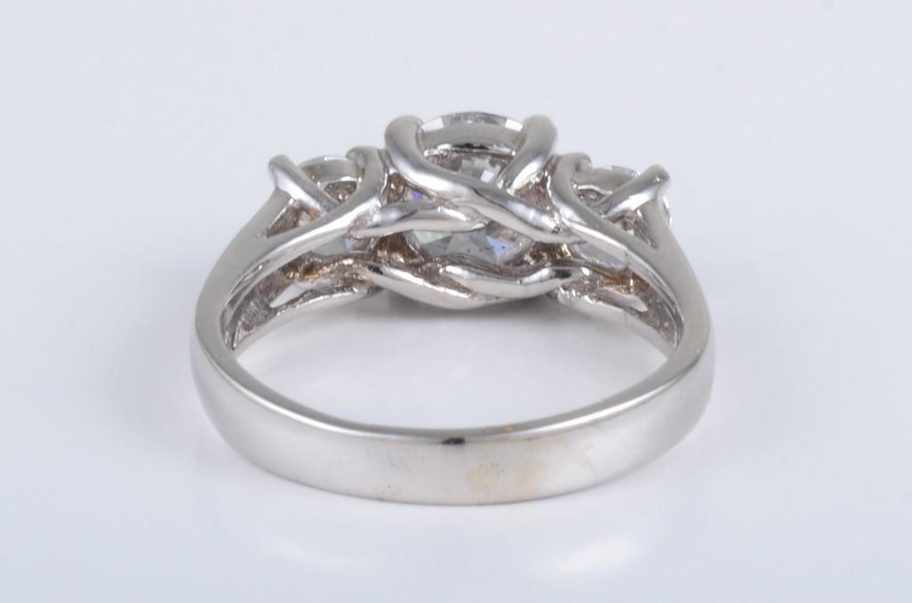 A Three Stone Diamond Engagement Ring - 3