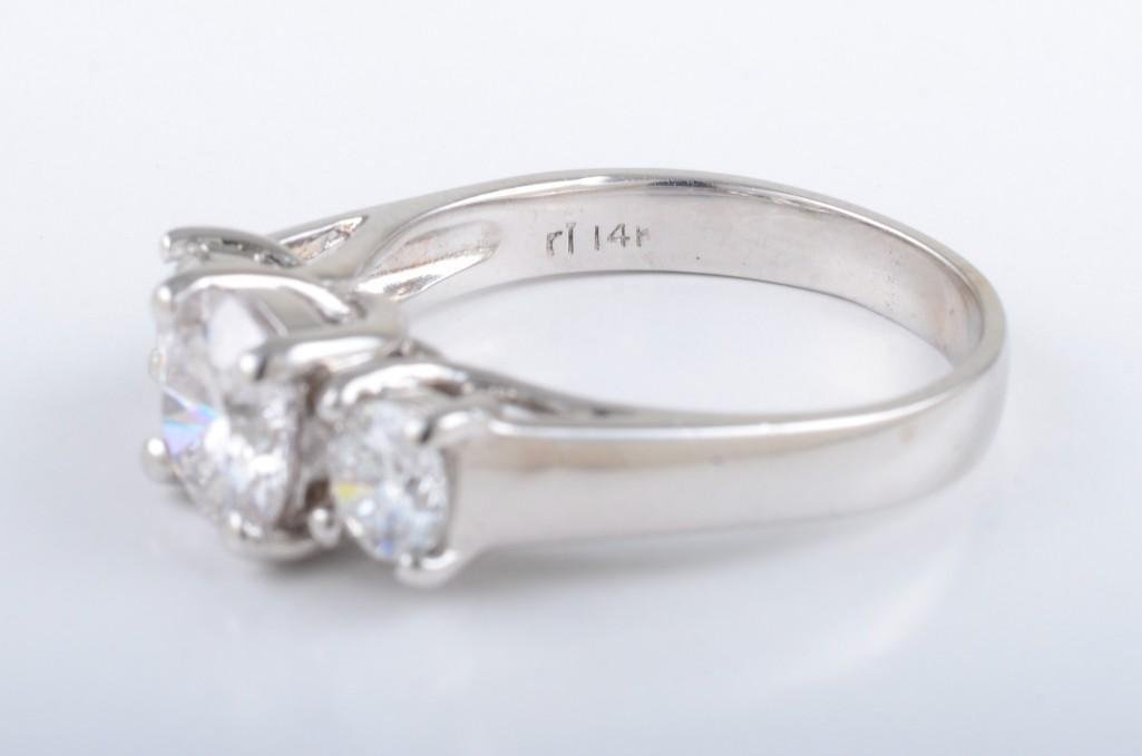 A Three Stone Diamond Engagement Ring - 4