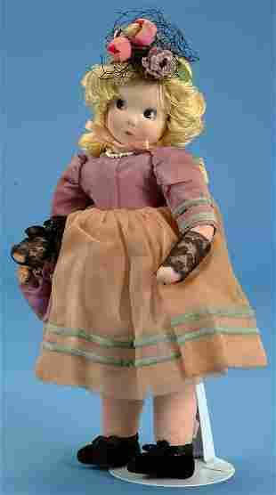 "11"" Madame Alexander Little Shaver, all cloth, some"