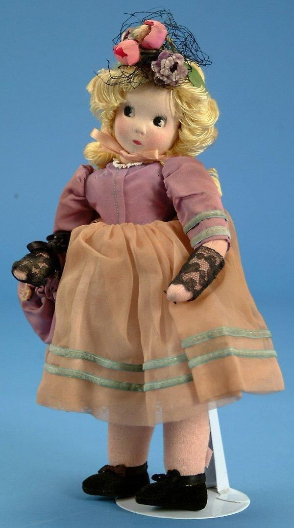 "12: 11"" Madame Alexander Little Shaver, all cloth, some"