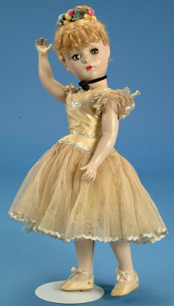 """18: 17"""" Madame Alexander Nina Ballerina, strung, hard p"""