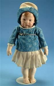 "225: 16"" Kathe Kruse character child, #1, oil ptd. clot"