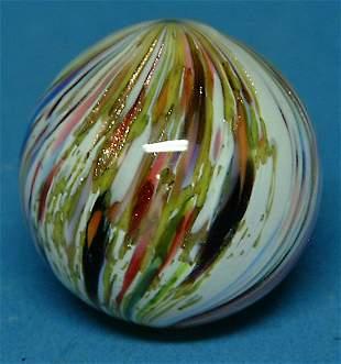 """Multicolored Onionskin Lutz Marble, 1.25"""", NM, (est"""
