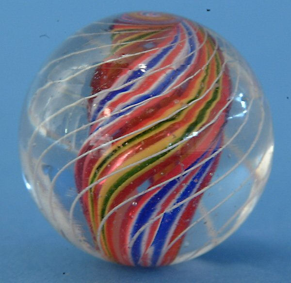 7: Multicolored Divided Core Marble w/ fine white outer