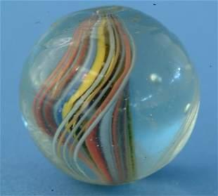 "Multicolored Solid Core Marble, 1"", VG-EX, (est. $5"