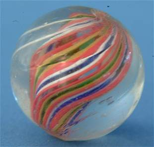Multicolored Divided Core Marble, w/fine white oute