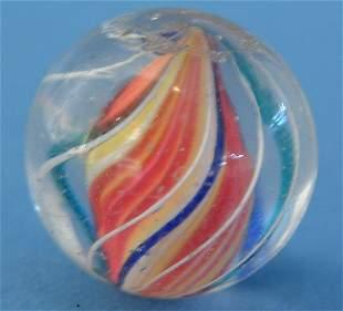 "Multicolored Solid Core Marble, .75"""", VG-EX, (est."