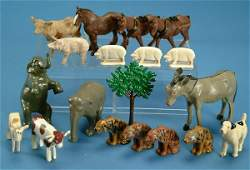 92: Lot of 18 animals inc Britains circus elephants and
