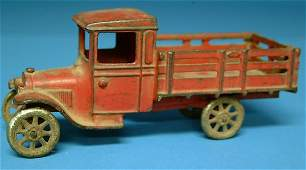 149: Arcade Model T Stake Truck, cast iron, nickel plat
