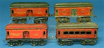 603 Ives Passenger Cars incl 2 60 baggage cars 70 b