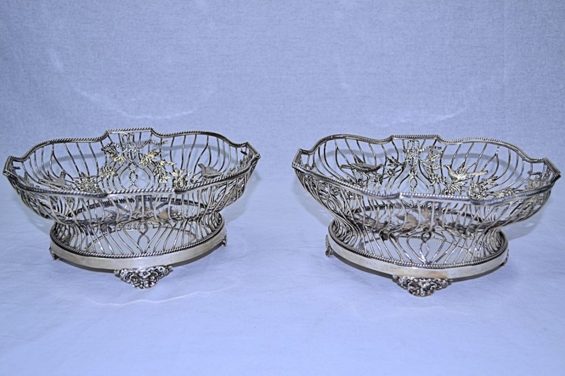 William Comyns Sterling Silver Baskets (Pair) 1907