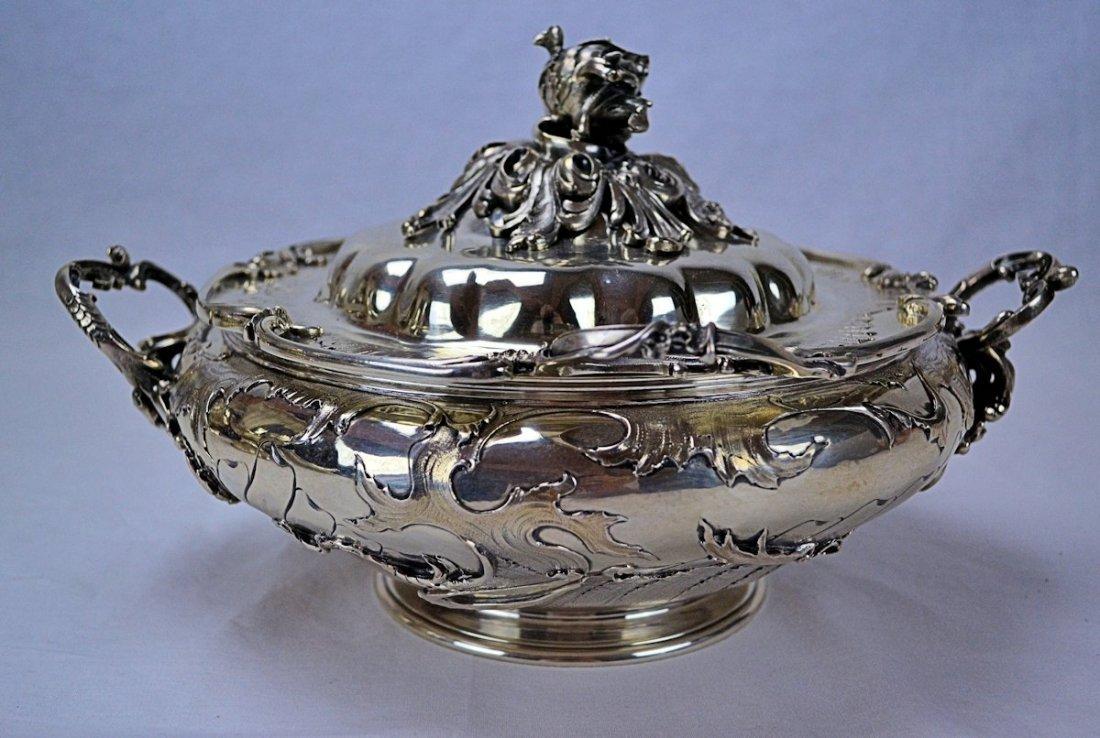 Belgian Coin Silver Entree Dish