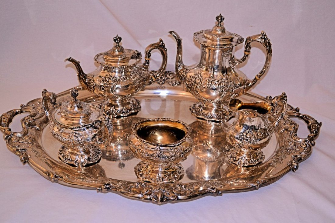 Reed & Barton Sterling Francis I Tea Set