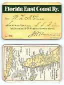 1896 Florida East Coast Ry Pass
