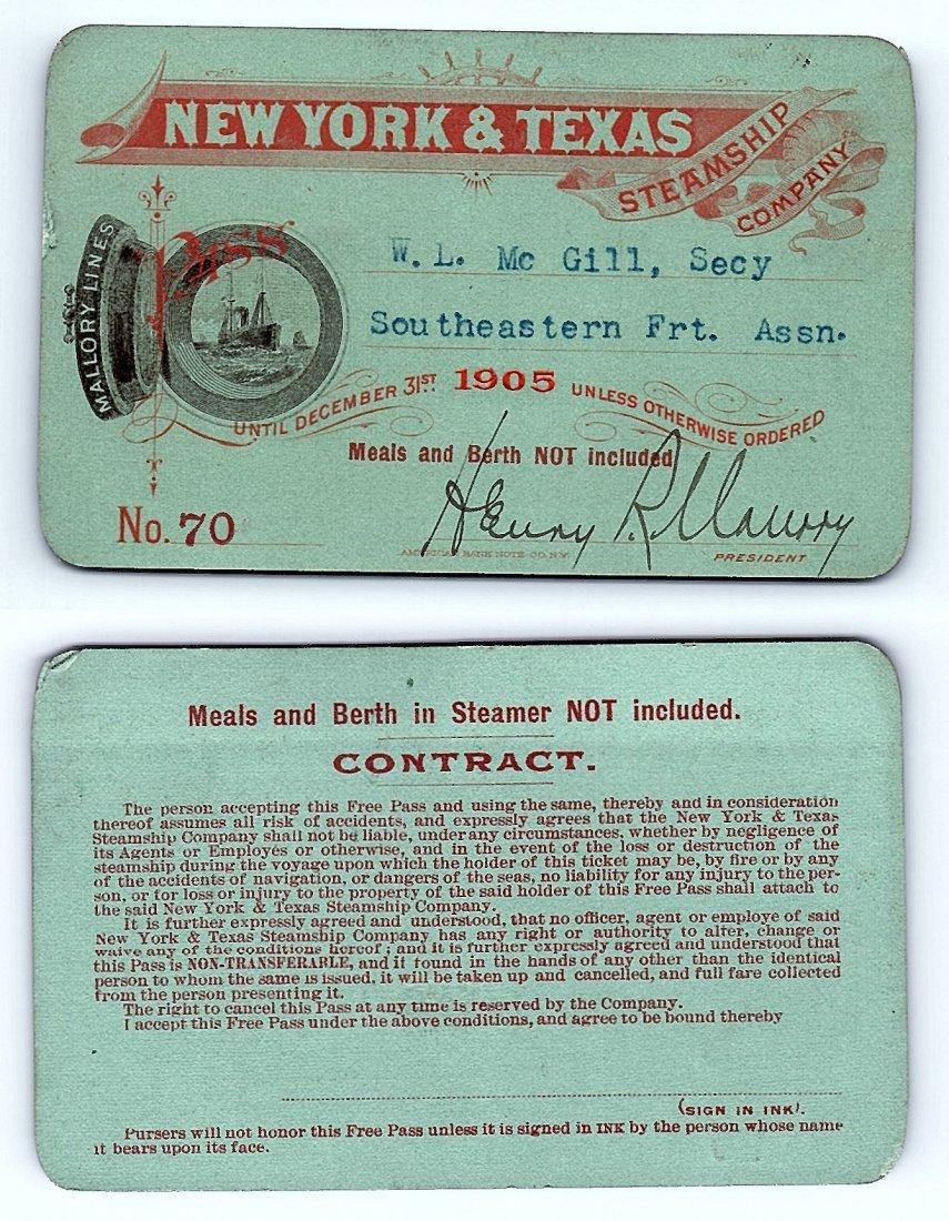 1905 New York & Texas Steamship Company