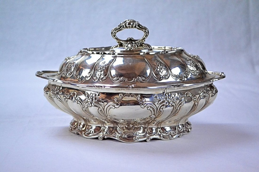 Gorham Chantilly Covered Sterling Vegetable Dish