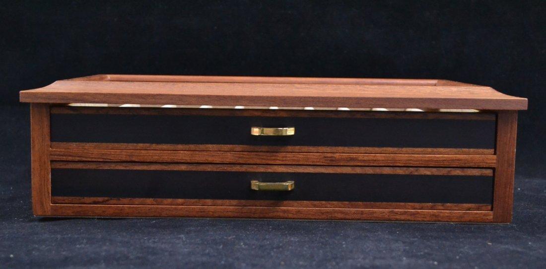 Agresti Wooden Two Drawer Box 20 Pen Display Case - 2