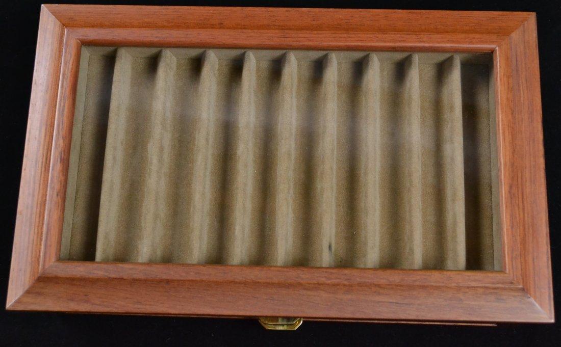 Agresti Wooden Two Drawer Box 20 Pen Display Case - 3