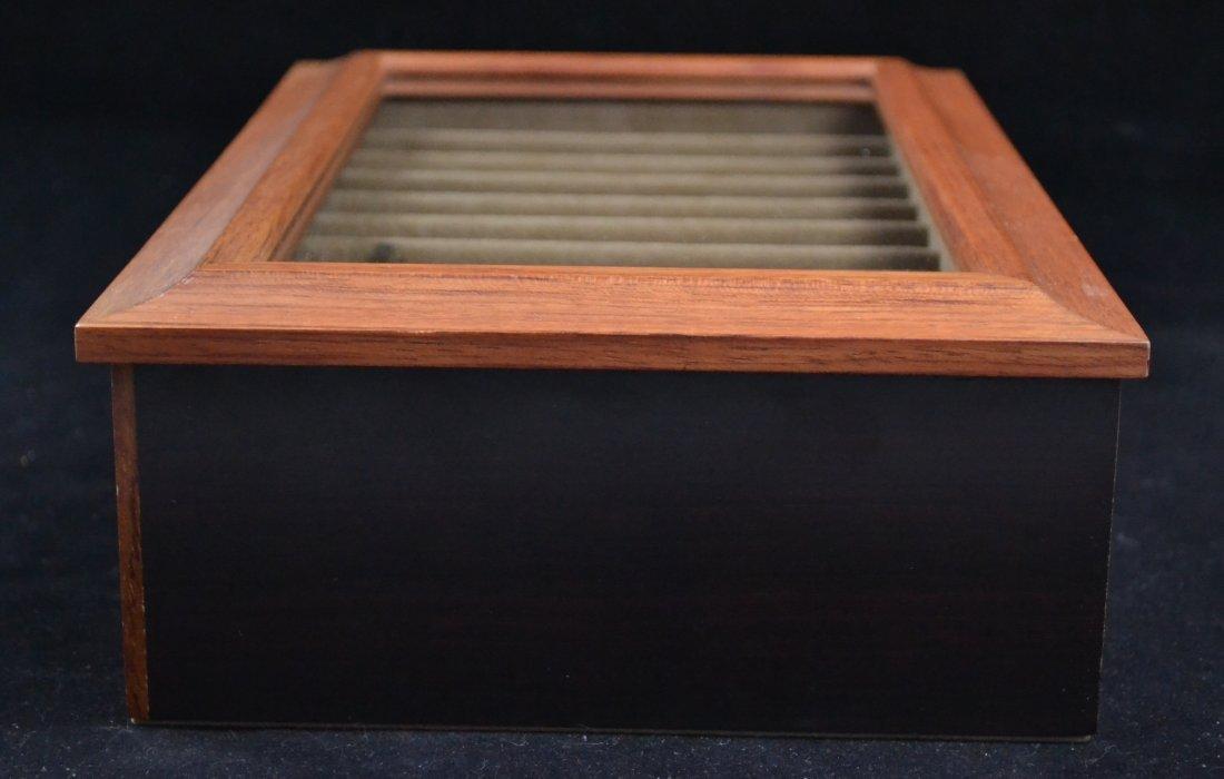 Agresti Wooden Two Drawer Box 20 Pen Display Case - 4