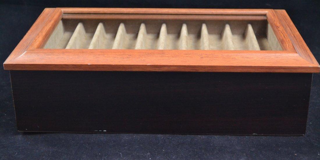 Agresti Wooden Two Drawer Box 20 Pen Display Case - 5