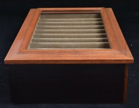 Agresti Wooden Two Drawer Box 20 Pen Display Case - 6