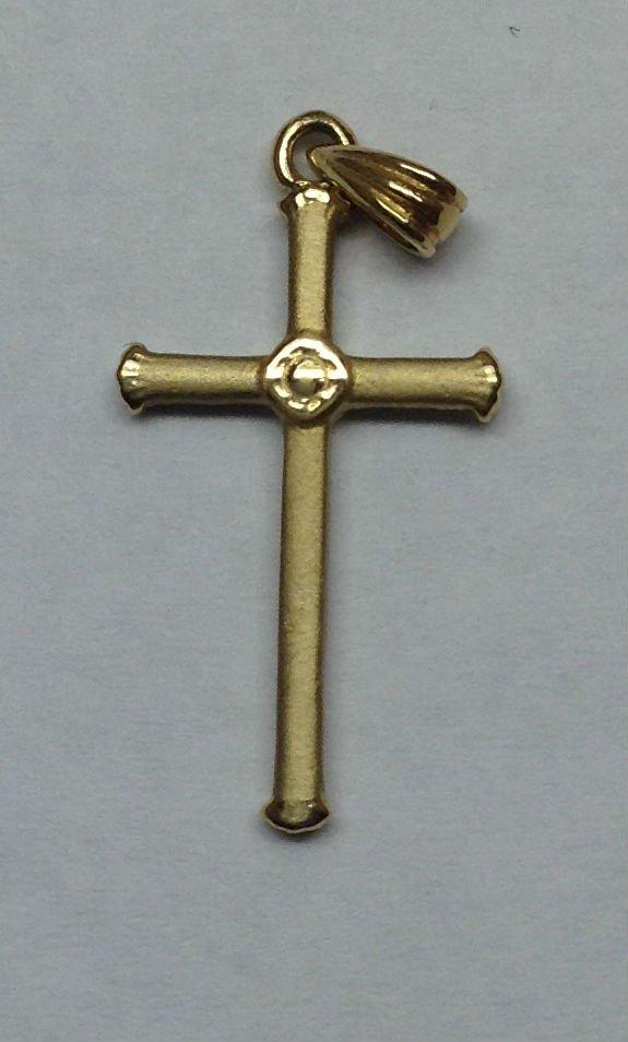 14 K gold cross