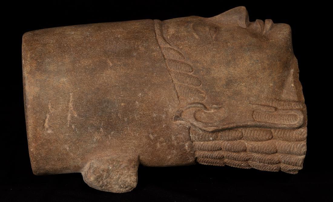 17th-18th Century Sandstone Vishnu Head - Protector & - 10