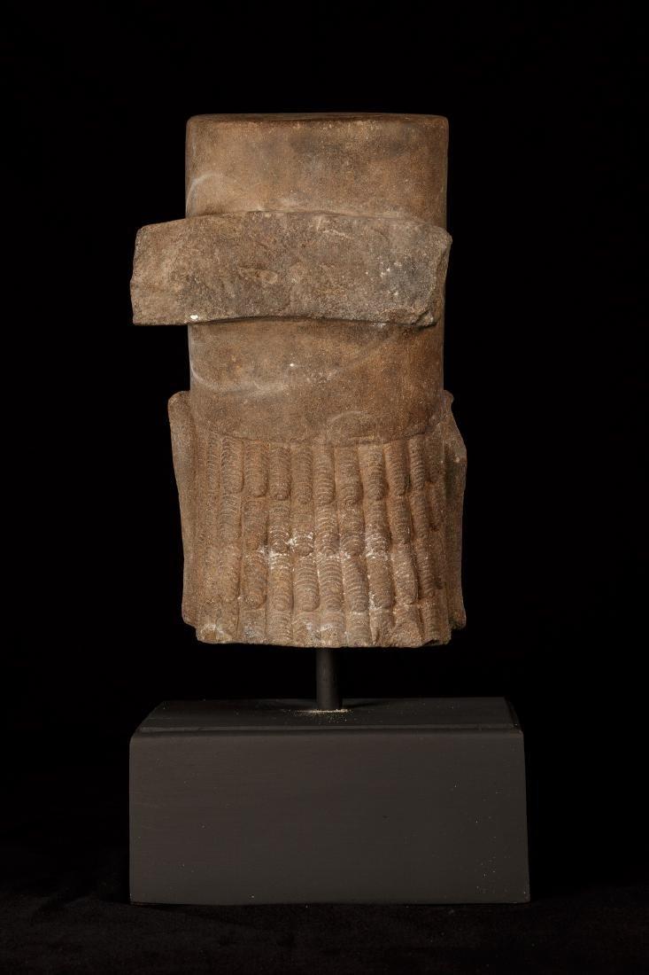 17th-18th Century Sandstone Vishnu Head - Protector & - 4