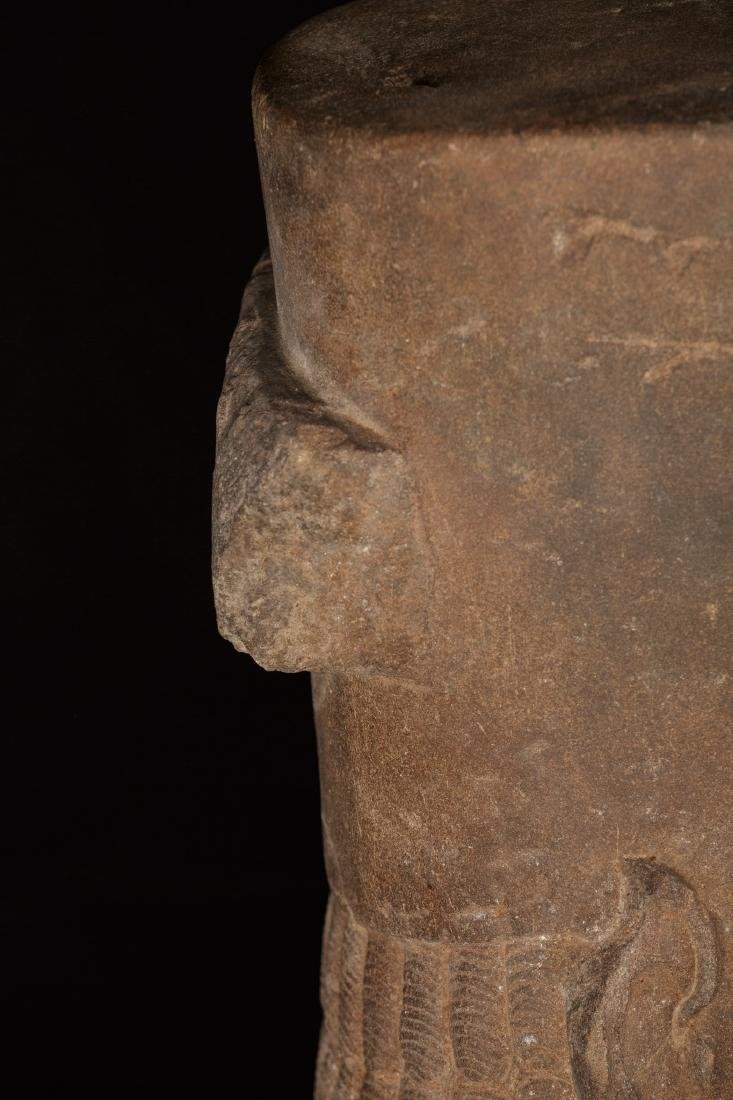 17th-18th Century Sandstone Vishnu Head - Protector & - 5