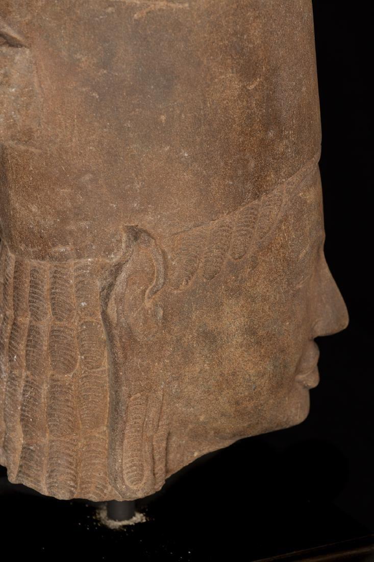 17th-18th Century Sandstone Vishnu Head - Protector & - 6