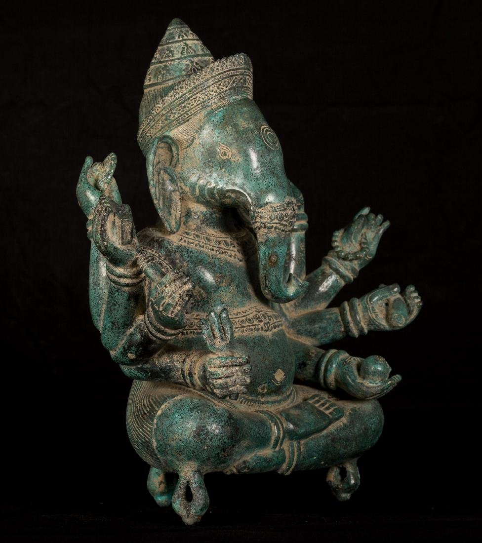 19th Century Seated 8 Arm Ganesha