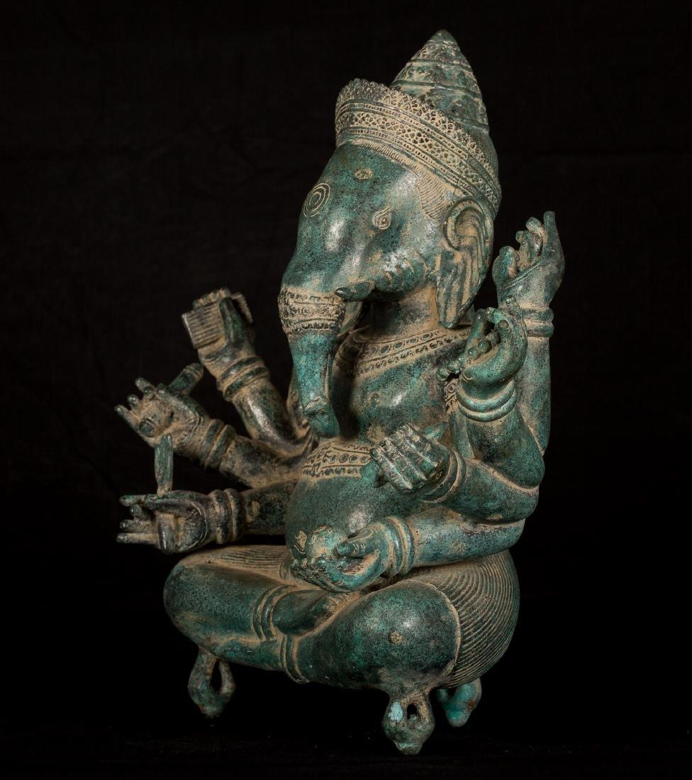 19th Century Seated 8 Arm Ganesha - 2