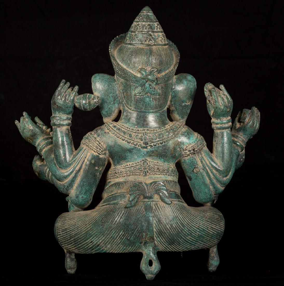 19th Century Seated 8 Arm Ganesha - 3