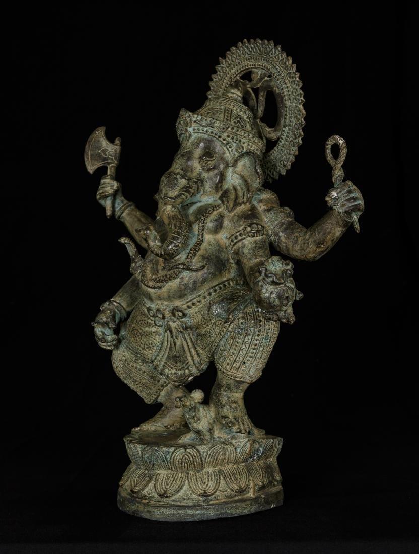 19th Century Standing Bronze Chola Ganesha - 2
