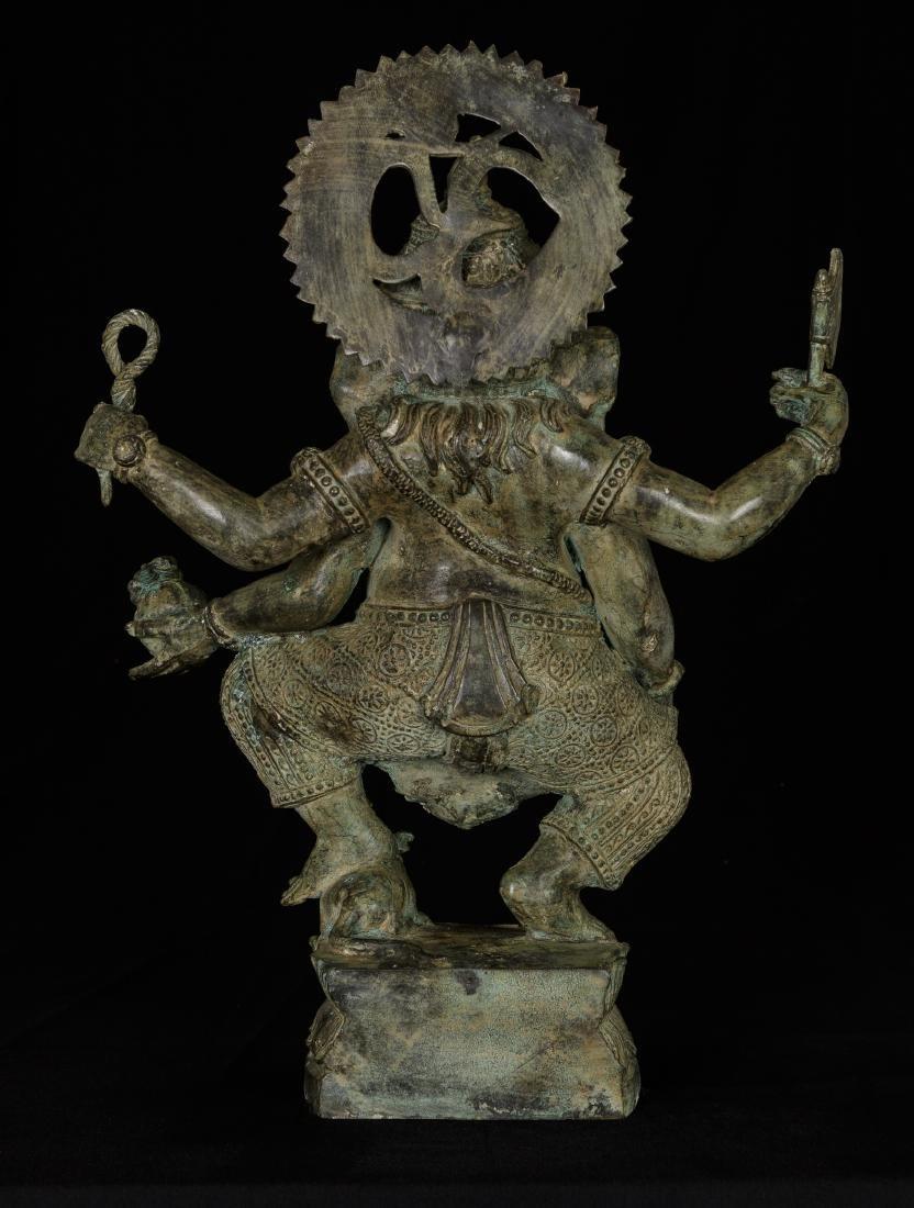 19th Century Standing Bronze Chola Ganesha - 3