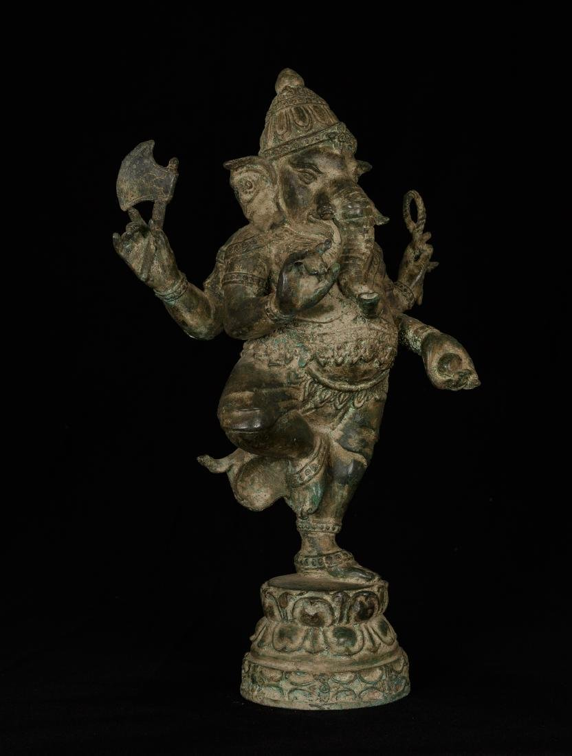 19th Century Standing Chola Style Bronze Ganesha
