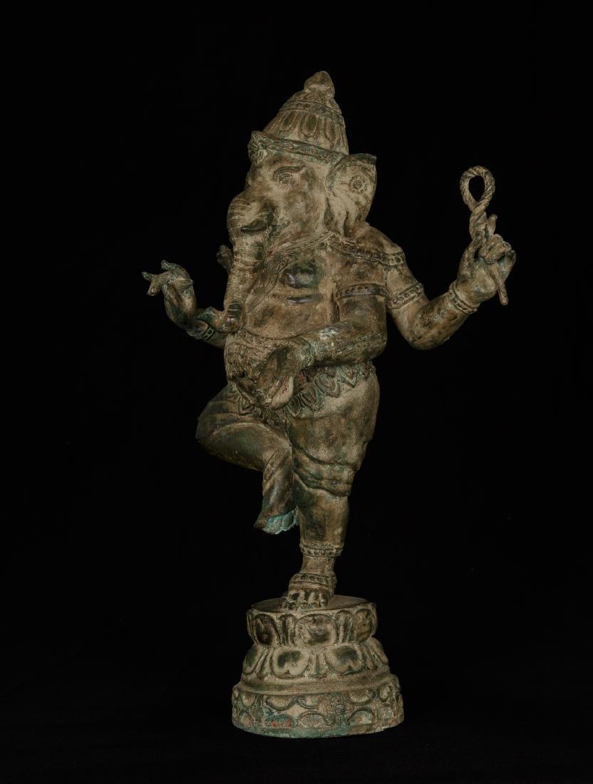 19th Century Standing Chola Style Bronze Ganesha - 2