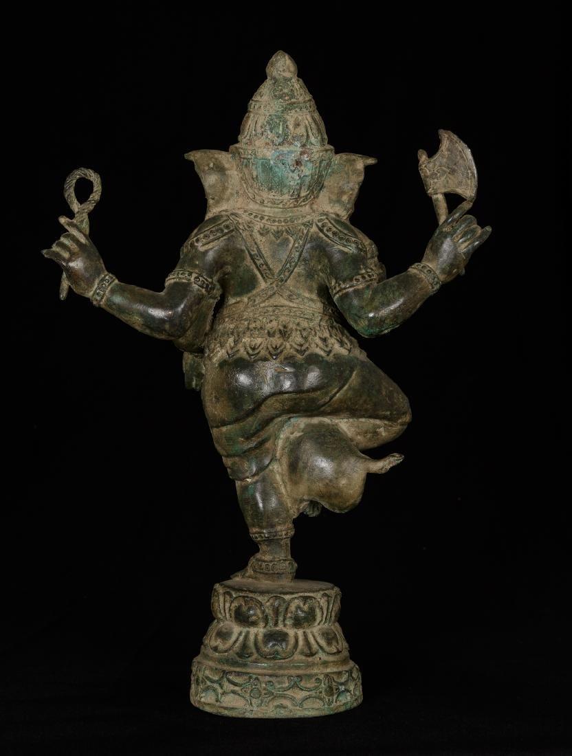19th Century Standing Chola Style Bronze Ganesha - 3