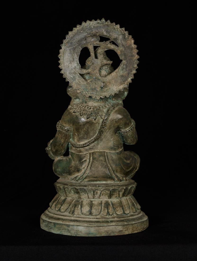 19th Century Seated Bronze Chola Ganesha - 3