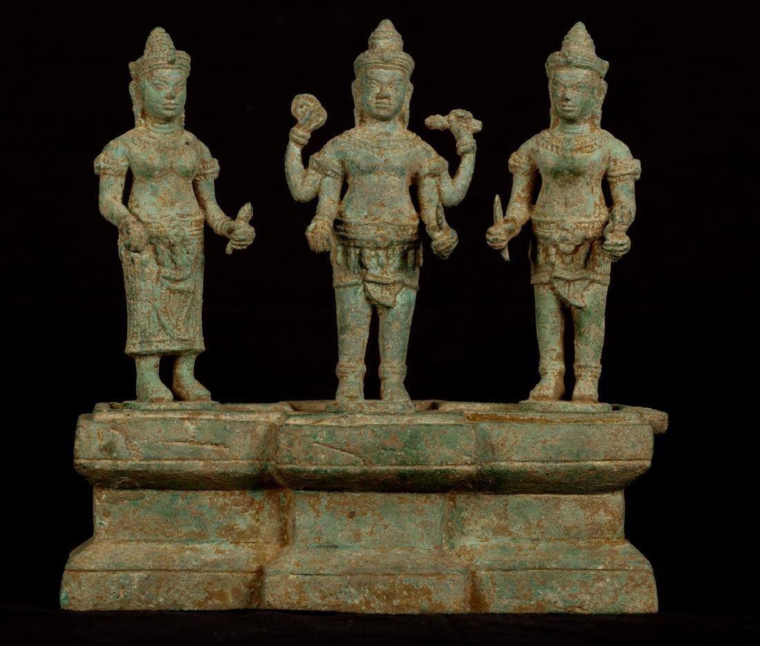 18th Century Triad of Vishnu, Shridevi and Bhudevi