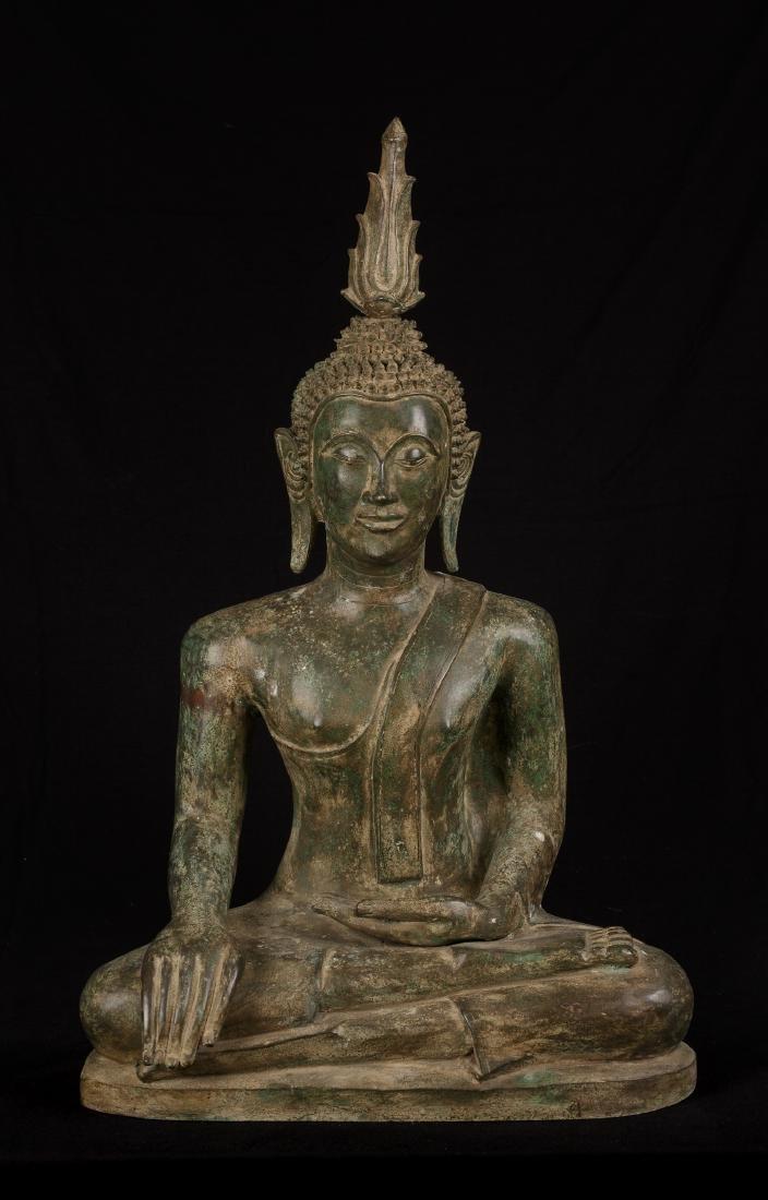 18th Century Seated Laos Enlightenment Buddha