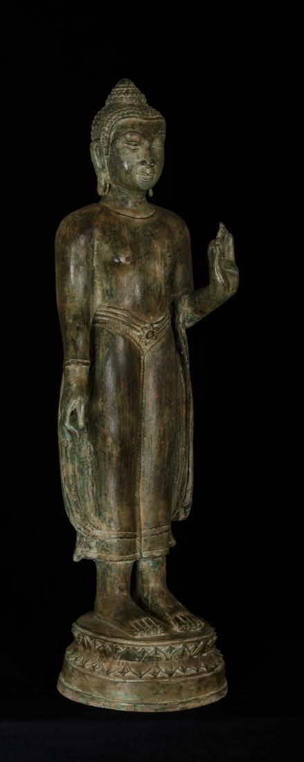 19th Century Thai Bronze Abhaya Protection Buddha