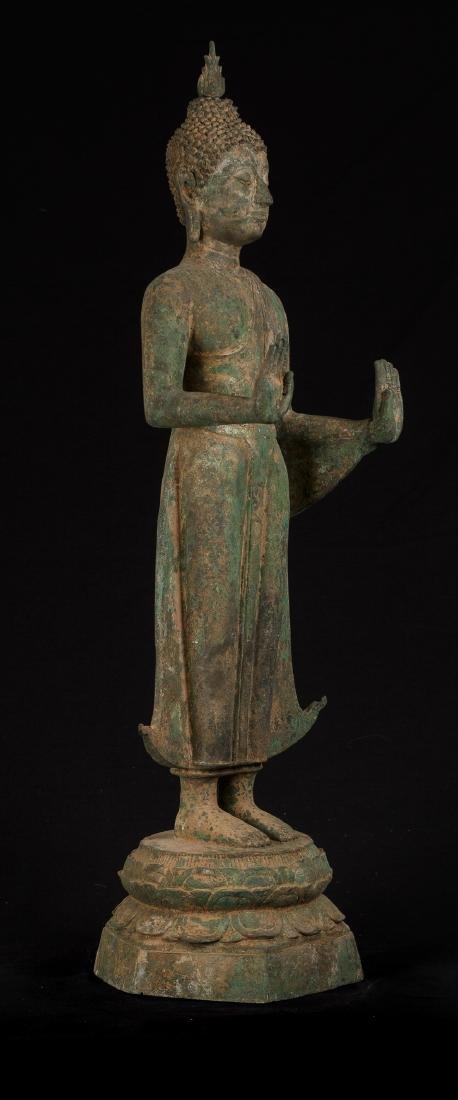18th Century Laos Bronze Double Abhaya Protection