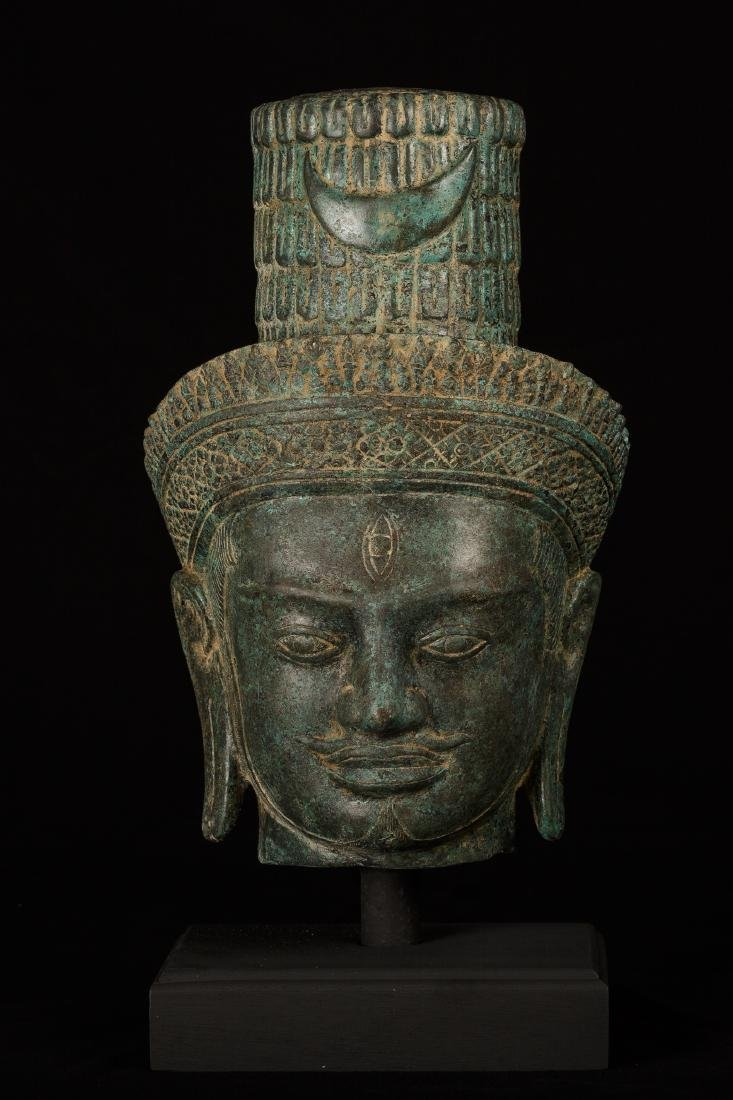 19th Century Mounted Shiva Head