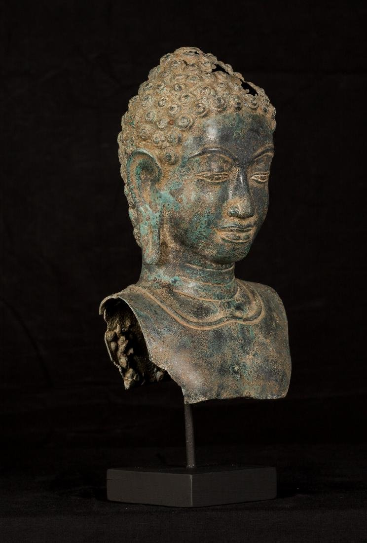 18th Century Thai Dvaravati style Buddha Head