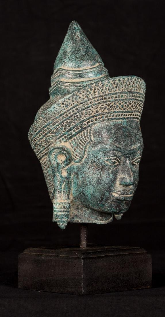 19th Century Thai Lopburi Buddha Head