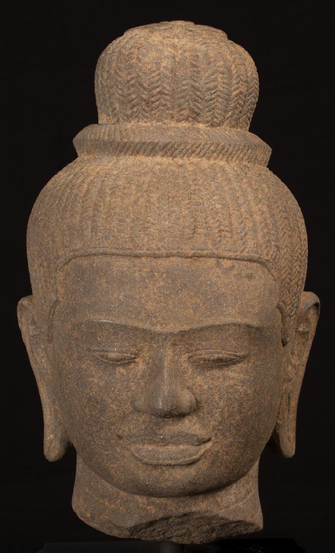 17th-18th Century Indian Lakshmi / Devi Sandstone Head
