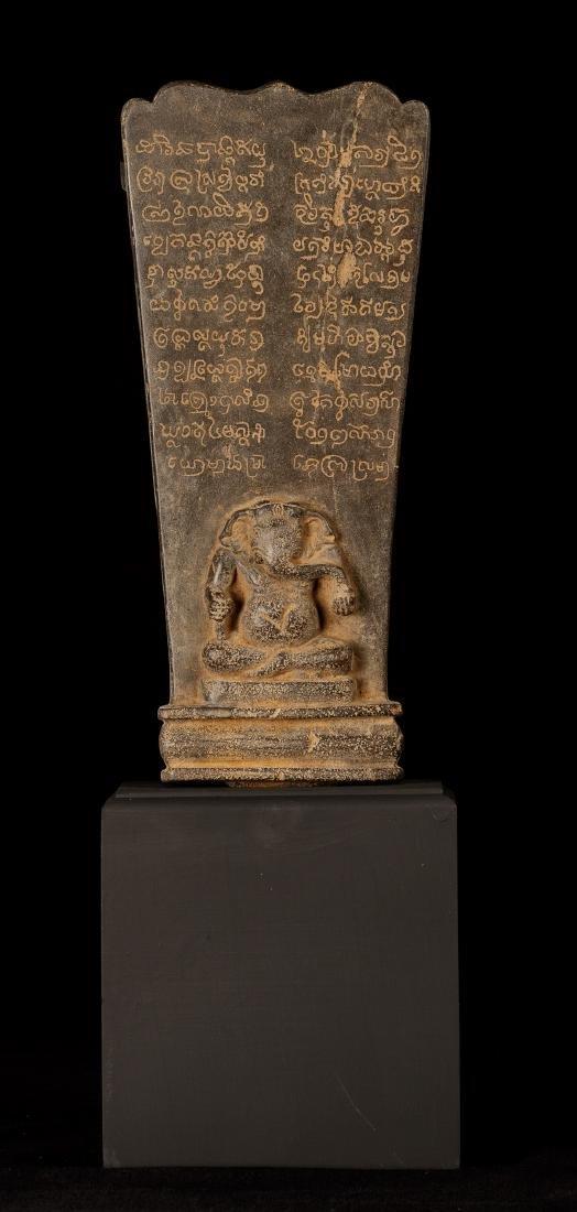 12th-15th Century Angkor Stone Stele Ganesha Statue