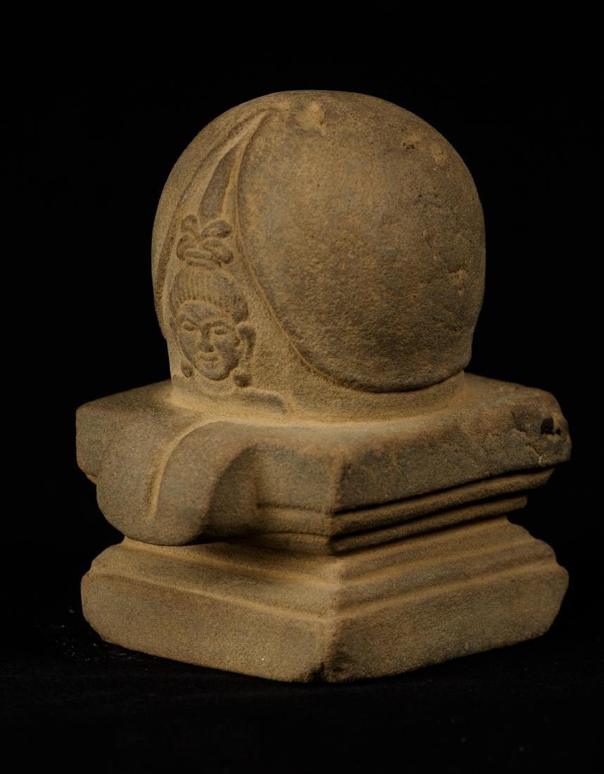18th Century South Asia Sandstone Shiva Linga / Lingnum